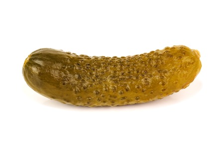 pickle: delicious pickle on white background