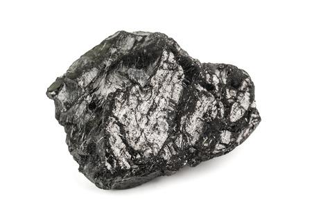 calorific: piece of coal on white background