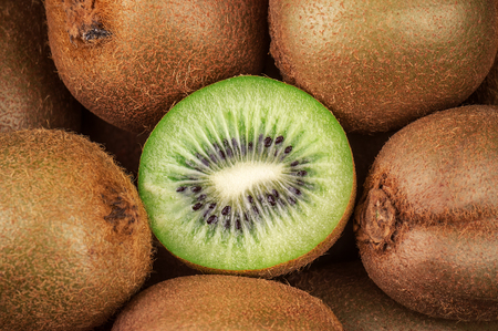 ripe and juicy kiwi as a texture