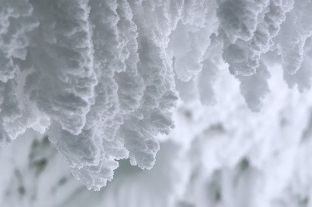 fluffy snow as a texture. Winter theme