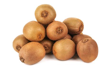 heap of ripe juicy kiwi on white background Stock Photo