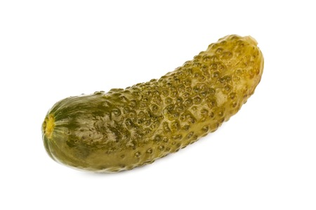 delicious pickle cucumber on white background