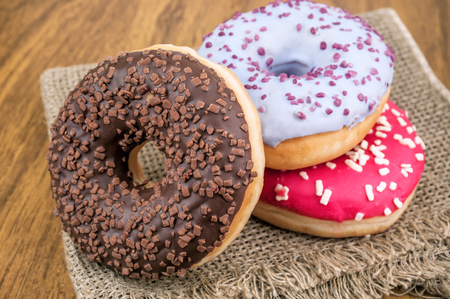 heap of sweet delicious donuts