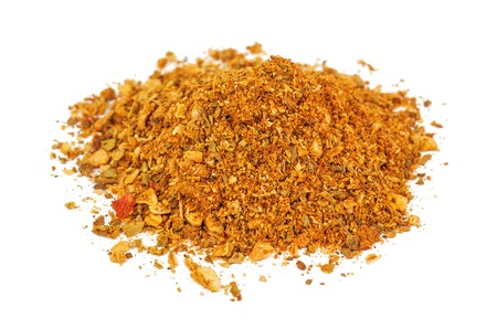 heap of spicy seasoning isolated on white