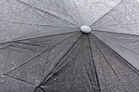 wet black umbrella as a texture