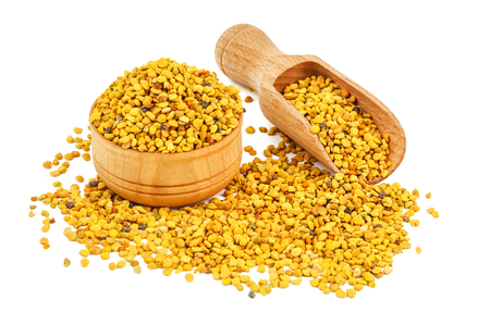 natural bee pollen isolated on white Stock Photo