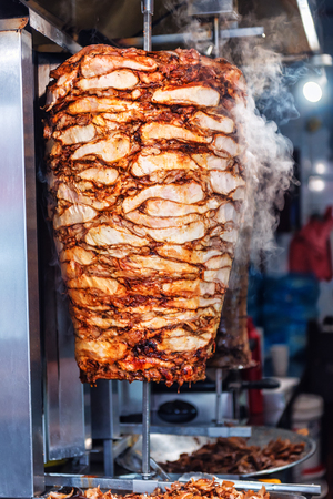 hot and fresh cutting hen Turkish food Doner Kebab