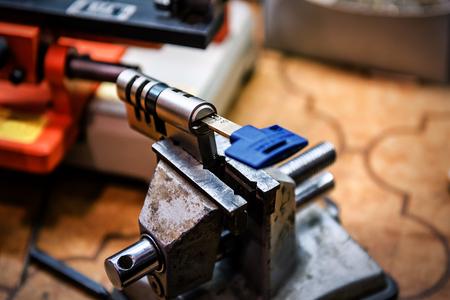 Cylinder with keys in the clutch. Locksmith theme