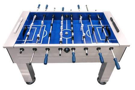 Table football game isolated on white Stockfoto