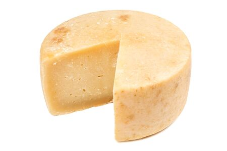 delicious cheese parmesan isolaterd on white Banque d'images - 126378429