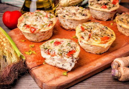 delicious egg vegedeble muffins Banque d'images - 126378430