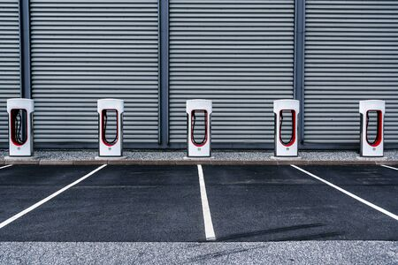 contemporary electric car charging station