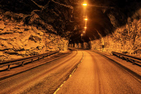 car tunnel in the middle of the mountain