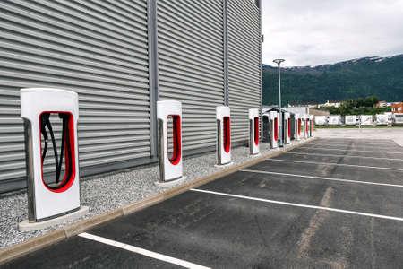modern electric car charging station