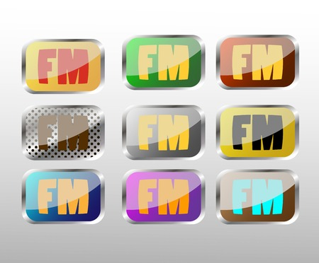 fm radio: FM radio icon for web design