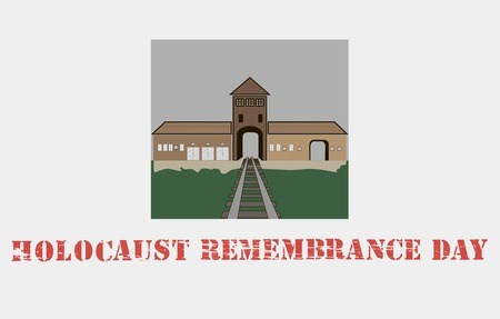 victim war: ?oncentration camp,Auschwitz. For documentary articles Illustration