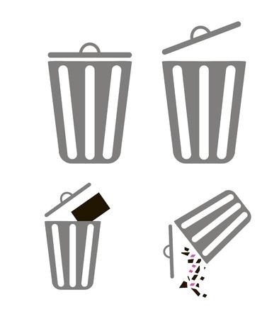 wastepaper basket: Cestino per la carta per il design nelle applicazioni mobili