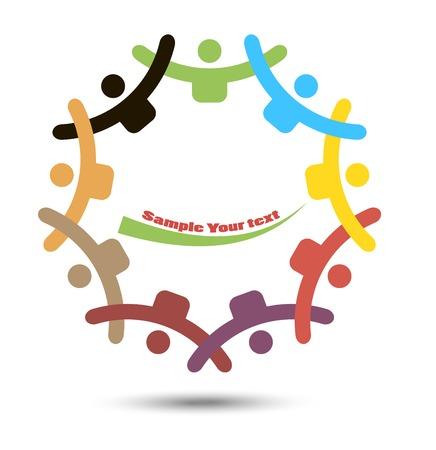 manos unidas: Gente de diferentes naciones se dieron la mano Vectores