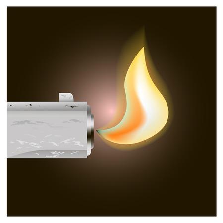 gun barrel: The barrel of the gun fire on black background for design