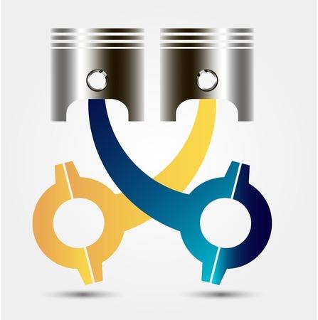 car engine: Car engine piston. Vector illustration.For graphics and design Illustration
