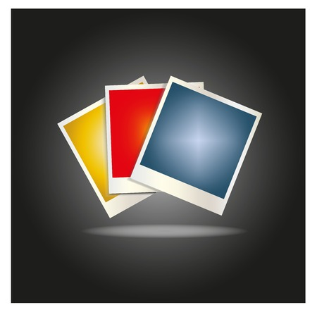 out of use: Blank colored photo frames laid out in a fan,for use in design for mobile applications Illustration