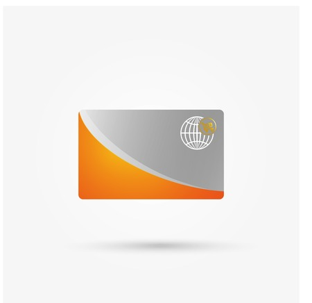 sector: Vector Credit Card isolated,for design in banking sector