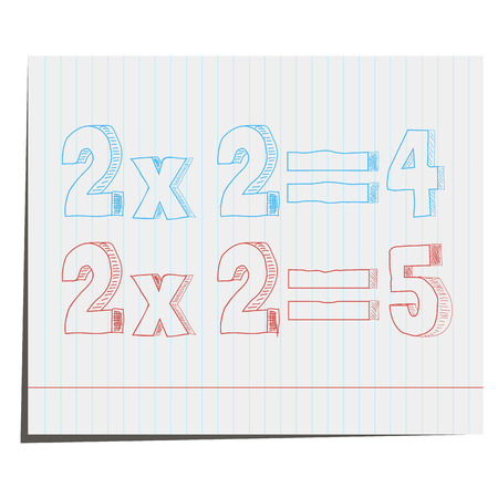 A mathematical example of hand-drawn in 3D style,For design in advertising Vector
