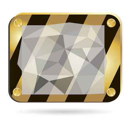 informant: vector black and yellow background,with elements of polygonal design Illustration