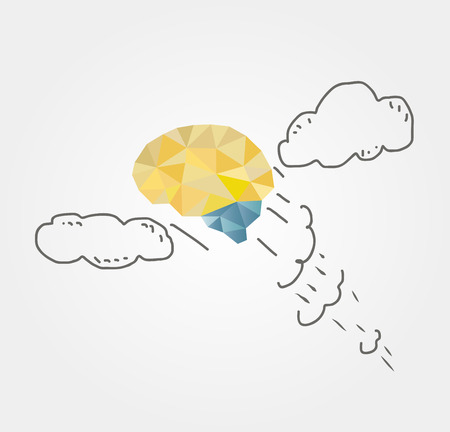 flight of the brain for business ideas Vector