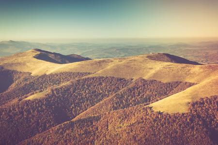 valley's: Autumn landscape in mountain valleys. Stock Photo