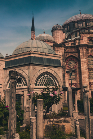 View of the Sehzade Mosque (Mosque of the Prince), Ottoman imperial mosque. Istanbul. Turkey.