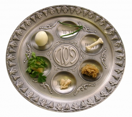 pesach: Passover, white background