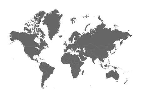 World Map - Stock Vector Illustration