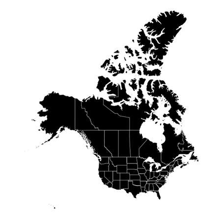 Canada Map. Stock Vector Illustration