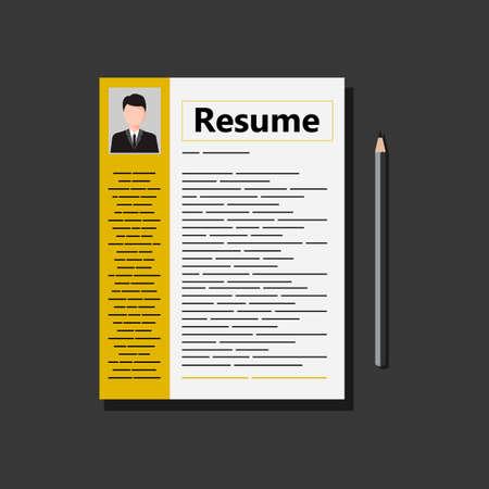 Resume Icon. Stock Vector Illustration Illusztráció