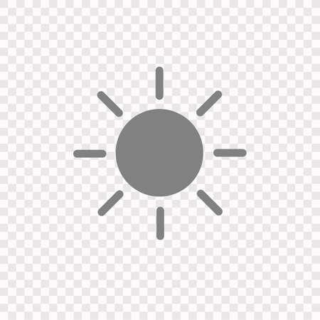 Sun Icon. Vector Stock Illustration