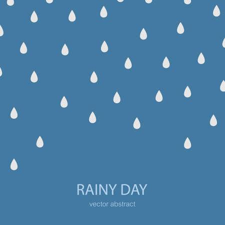 Rain Icon. Stock Vector Illustration