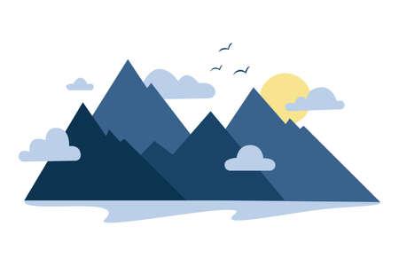 Mountains icon. Stock Vector Illustration