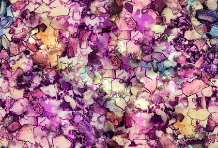 SEAMLESS beautiful watercolor acrylic alcohol ink mosaic background. The texture can be used for wallpaper or posters or for making book covers and notebooks, graphic editing or desktop wallpaper.