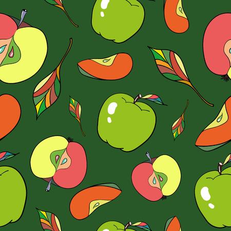 show plant: Seamless pattern apples Illustration