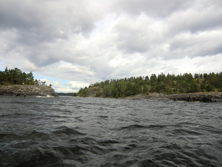 Islands in passage of Ladoga lake photo