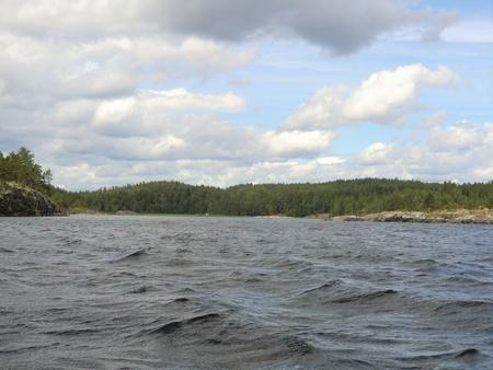 Bay on Ladoga lake Stock Photo - 10610596