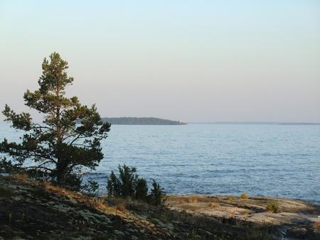 Evening on Ladoga lake photo