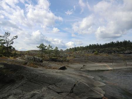 Near to island on Ladoga lake photo