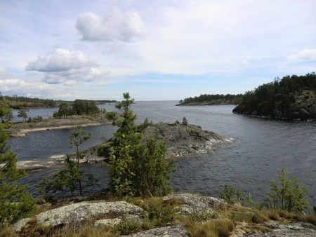 Gulf of Ladoga lake Stock Photo - 10669499