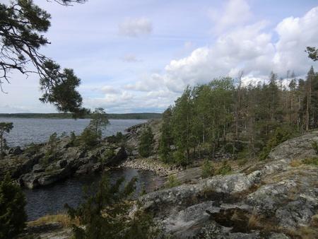 One of island of Ladoga lake photo