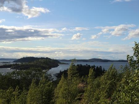 Ridge of islands on Ladoga lake photo