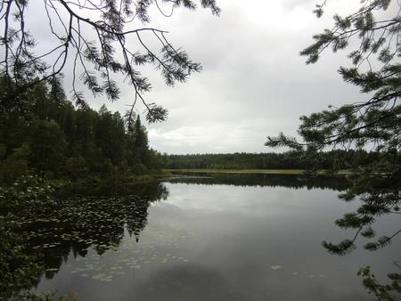 unruffled: Lake Varatsky in northern Karelia