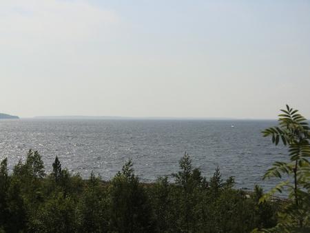Kind from island to Ladoga lake photo