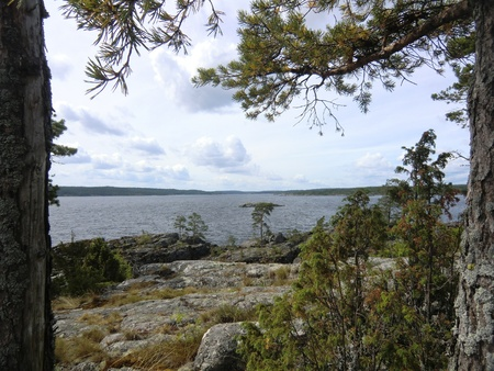 On island of Ladoga lake Stock Photo - 10669511